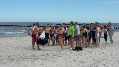 Uczestnicy obozu sportowego nad Bałtykiem